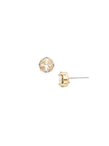 One and Only Earring in Bright Gold-tone Crystal