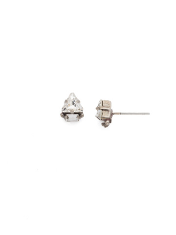 Tri-ed and True Crystal Earring in Antique Silver-tone Crystal