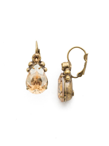 Embellished Pear Earring in Antique Gold-tone Neutral Territory