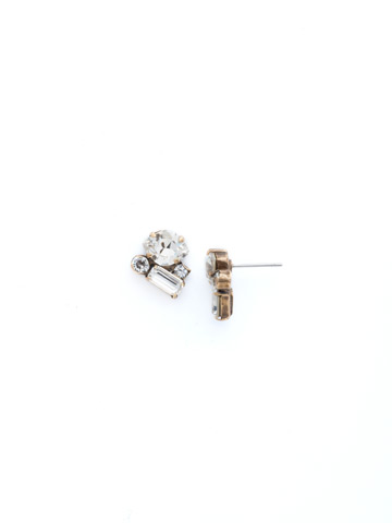 Crystal Coterie Earring in Antique Gold-tone Crystal