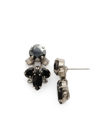 Frequent Flyer Earring in Antique Silver-tone Black Onyx
