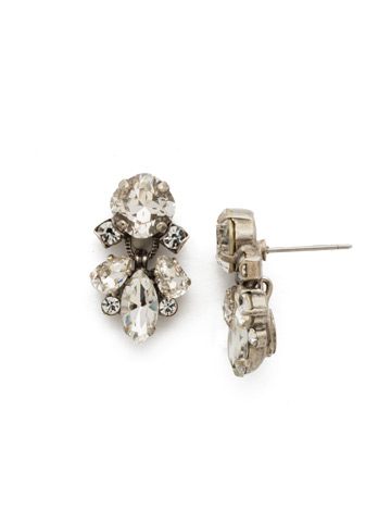 Frequent Flyer Earring in Antique Silver-tone Crystal