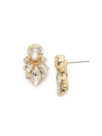 Frequent Flyer Earring in Bright Gold-tone Crystal