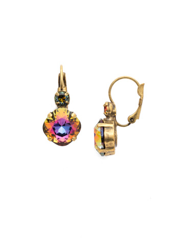 Classic Complements Earring in Antique Gold-tone Volcano