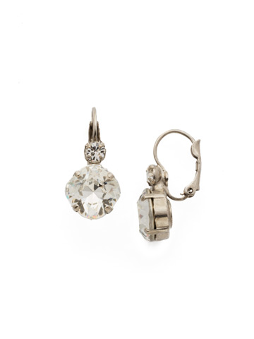 Classic Complements Earring in Antique Silver-tone Crystal