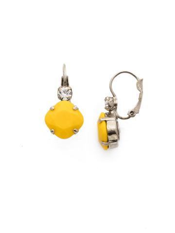 Classic Complements Earring in Antique Silver-tone Lemon Zest