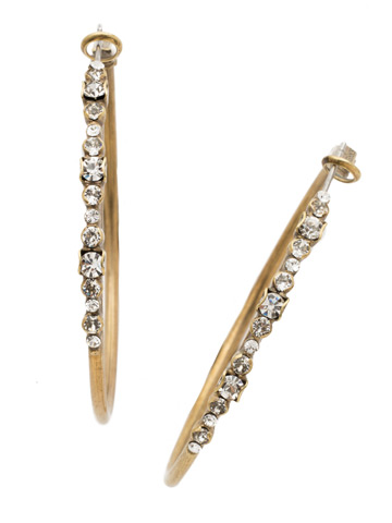 Hoopla Earring in Antique Gold-tone Crystal