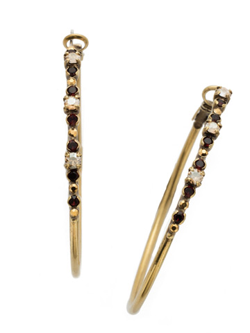 Hoopla Earring in Antique Gold-tone Mighty Maroon