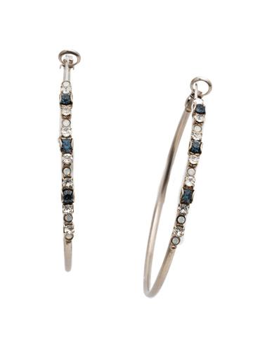 Hoopla Earring in Antique Silver-tone Glory Blue
