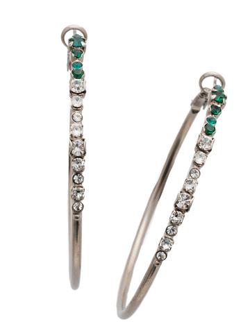 Hoopla Earring in Antique Silver-tone Snowy Moss