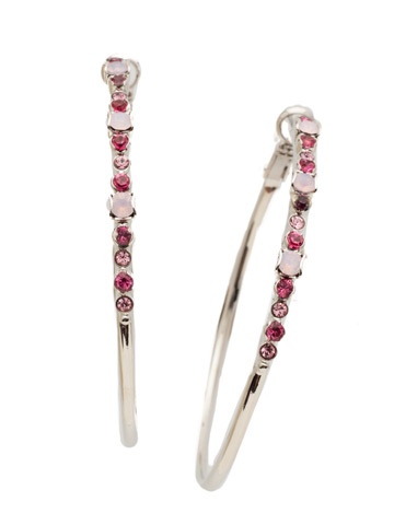 Hoopla Earring in Rhodium Apple Blossom