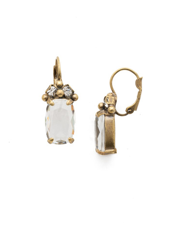 Singular Sensation French Wire Earring in Antique Gold-tone Crystal