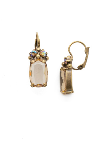 Singular Sensation French Wire Earring in Antique Gold-tone Neutral Territory