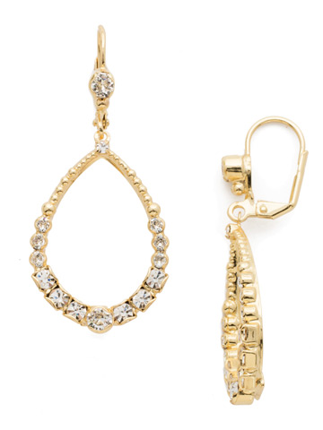 Drop a Hint Earring in Bright Gold-tone Crystal