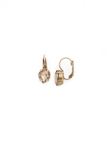 Crystal Crysathemum Earring in Antique Gold-tone Rustic Bloom