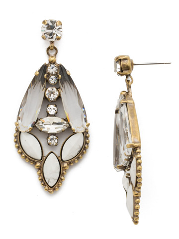 Brilliant Boho Earring in Antique Gold-tone Crystal