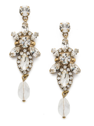 Stargazer Earring in Antique Gold-tone Crystal