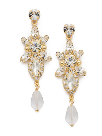 Stargazer Earring in Bright Gold-tone Crystal