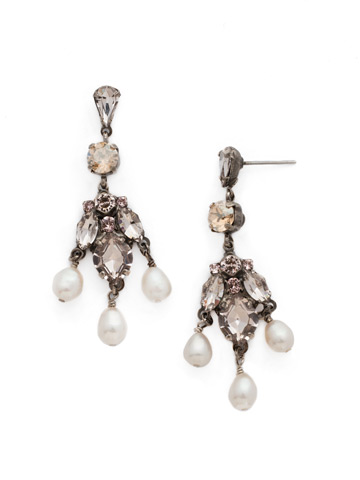 Lumiere Earring in Antique Silver-tone Satin Blush