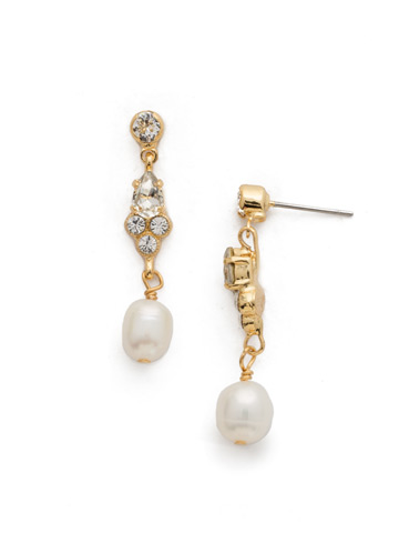 One-of-a-Kind Earring in Bright Gold-tone Crystal