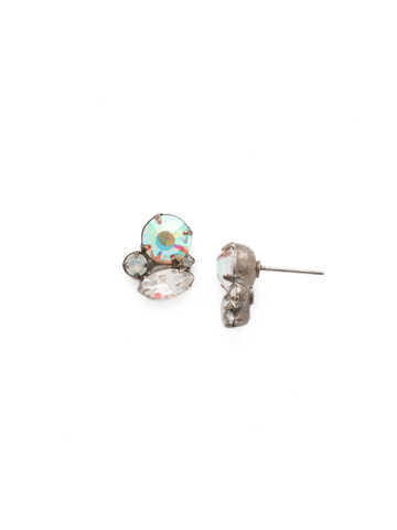 Understated Elegance Earring in Antique Silver-tone White Bridal