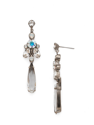 Ingenue Earring in Antique Silver-tone White Bridal