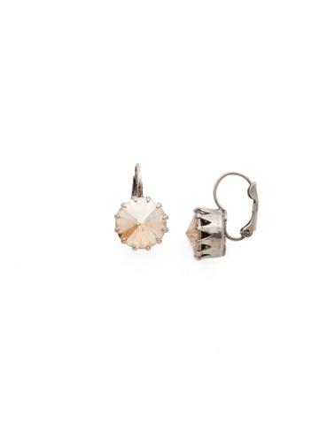 Regal Rivoli Earring in Antique Silver-tone Satin Blush