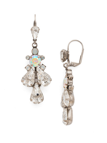 Prima Donna Earring in Antique Silver-tone White Bridal