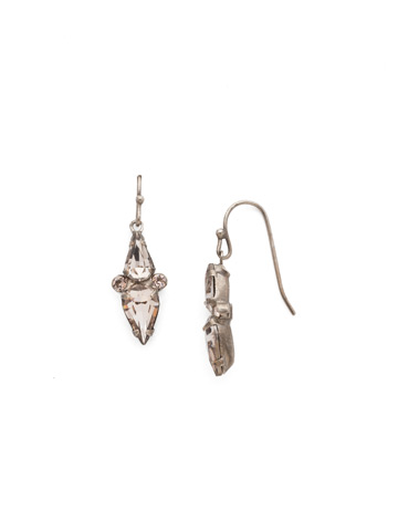 Mirror Image Earring in Antique Silver-tone Satin Blush