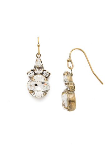Elementary Elegance Earring in Antique Gold-tone Crystal