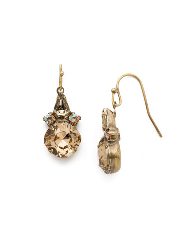 Elementary Elegance Earring in Antique Gold-tone Neutral Territory