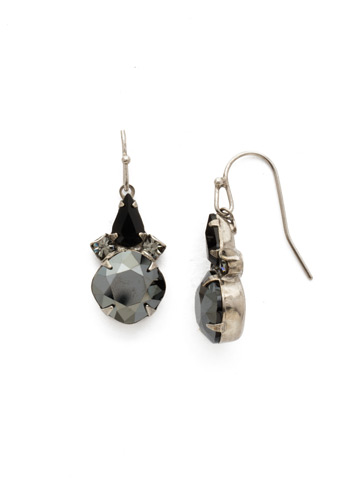 Elementary Elegance Earring in Antique Silver-tone Black Onyx