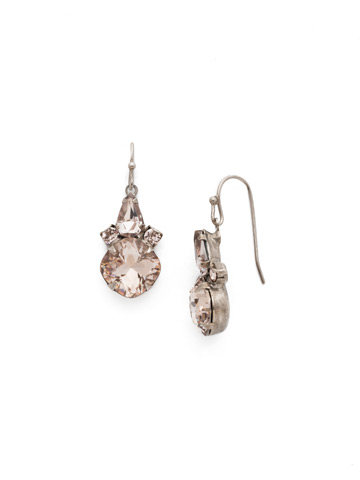 Elementary Elegance Earring in Antique Silver-tone Satin Blush