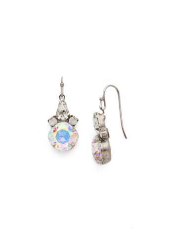 Elementary Elegance Earring in Antique Silver-tone White Bridal