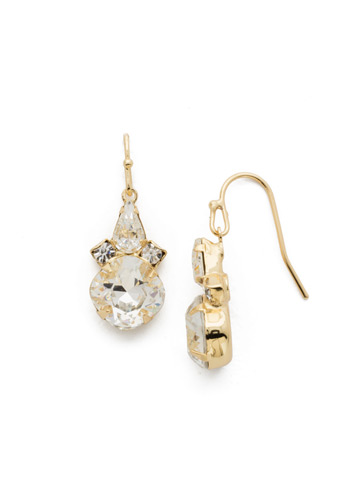 Elementary Elegance Earring in Bright Gold-tone Crystal
