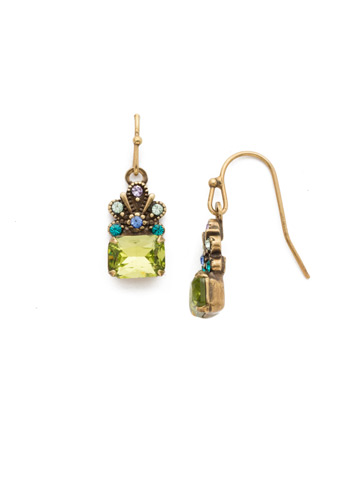 Crowning Glory Earring in Antique Gold-tone Wildflower