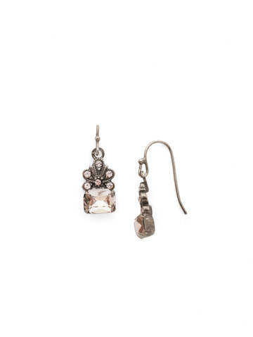 Crowning Glory Earring in Antique Silver-tone Satin Blush