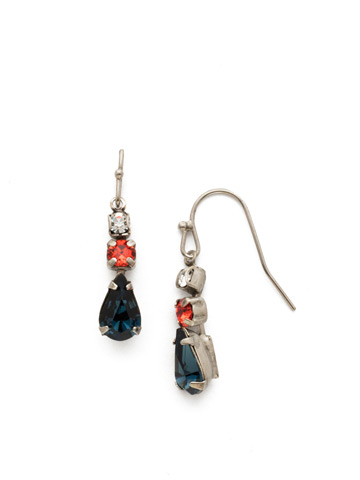Tansy Earring in Antique Silver-tone Battle Blue