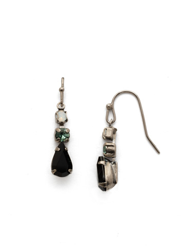 Tansy Earring in Antique Silver-tone Game Day Green