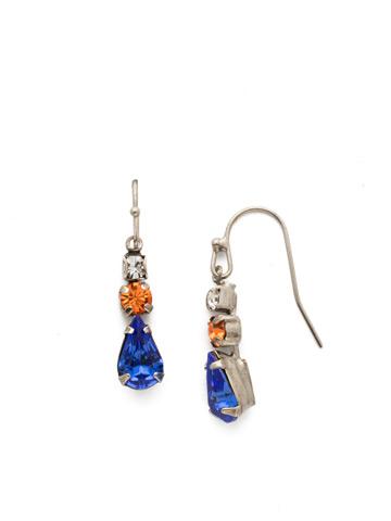 Tansy Earring in Antique Silver-tone Orange Crush