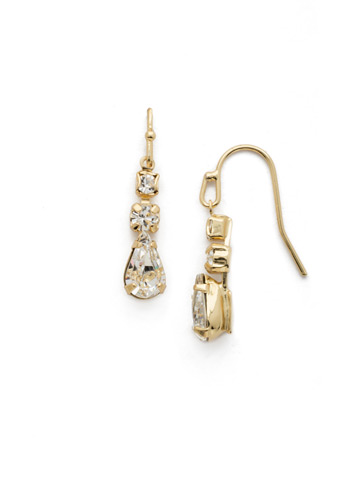 Tansy Earring in Bright Gold-tone Crystal