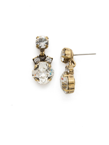 Balsam Earring in Antique Gold-tone Crystal