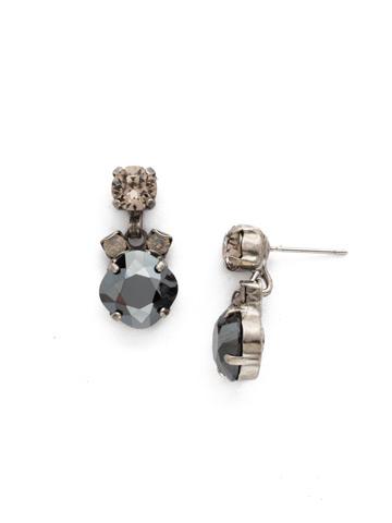 Balsam Earring in Antique Silver-tone Black Onyx