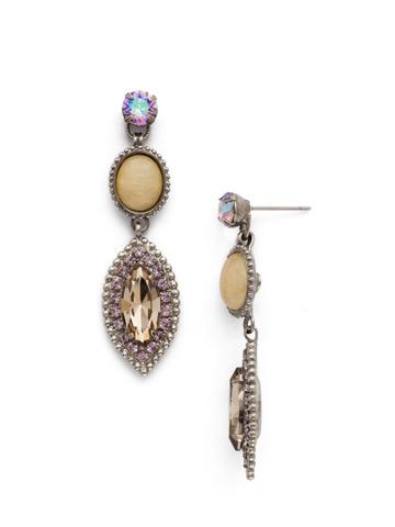 Yarrow Earring in Antique Silver-tone Mirage