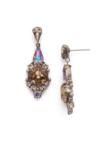 Alyssum Earring in Antique Silver-tone Mirage