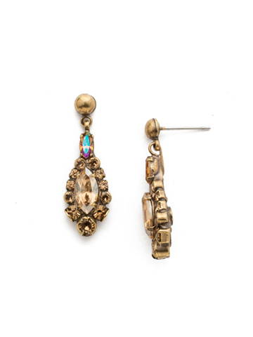 Rue Earring in Antique Gold-tone Neutral Territory