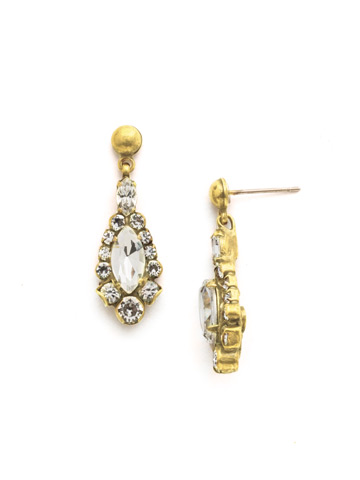 Rue Earring in Bright Gold-tone Crystal