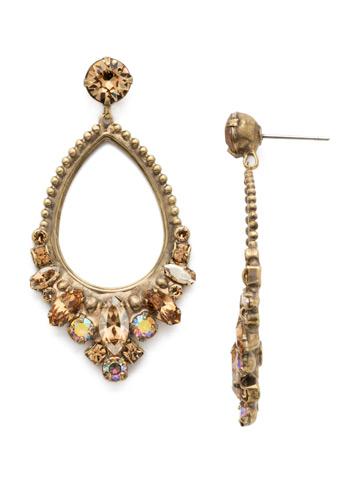 Noveau Navette Statement Earring in Antique Gold-tone Neutral Territory