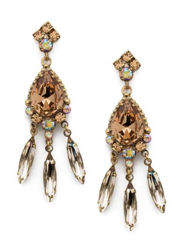 Primrose Earring in Antique Gold-tone Neutral Territory