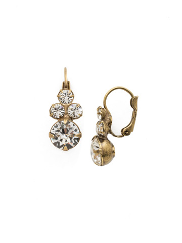 Wisteria Earring in Antique Gold-tone Crystal